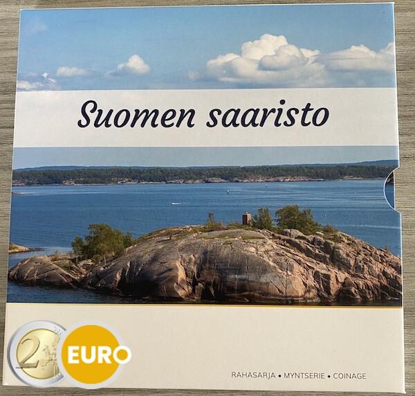 KMS Finnland 2021 Euro set Stgl BU FDC Finnischer Archipel