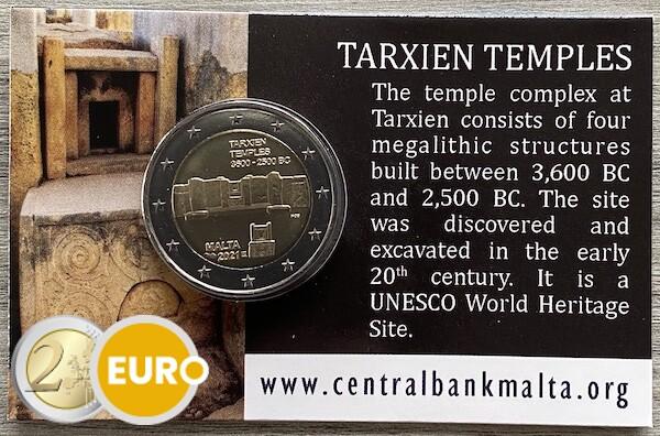 2 euro Malta 2021 - Tempel von Tarxien Stgl. BU FDC Coincard MdP