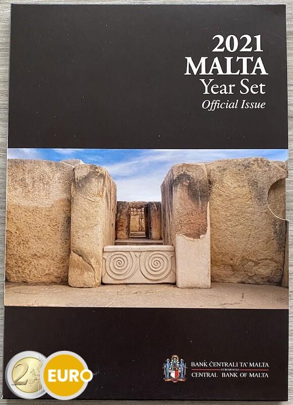 KMS Kursmünzsatz BU FDC Malta 2021 + 2 euro Tempel von Tarxien